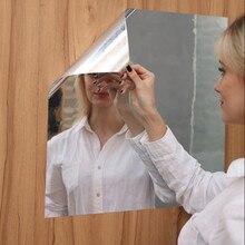 50x100 см, мягкие зеркальные самоклеющиеся наклейки, пленка для зеркала, креативные зеркальные фольгированные наклейки на стену, съемная зеркальная паста