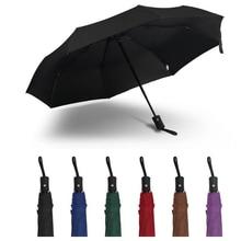 Полностью автоматический портативный складной зонт для женщин и мужчин, ветрозащитный высококачественный Зонт с УФ-защитой CD