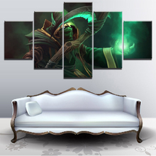 Wall Modular Game Poster Canvas Art HD Print Painting 5 Pieces DotA 2 Hood Necrophos Scythe Picture Home Decorative Artworks scythe twin mounter 2 5 rev c