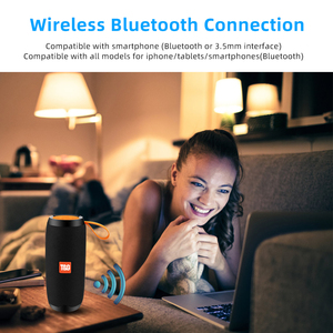 Image 4 - Bluetooth Wireless Speakers Waterproof  Stereo Column Portable Speaker with Mic FM Radio MP3 Bass Sound Box