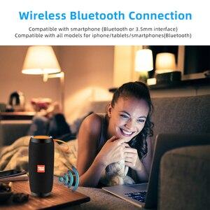 Image 4 - Беспроводные Bluetooth колонки, водонепроницаемая стереоколонка, Портативная колонка с микрофоном, FM радио, MP3, бас, звуковая коробка