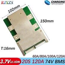 BMS 20S 120A/100A/80A nouveau Li ion 84V grand courant élevé BMS 74v PCM pour véhicules électriques