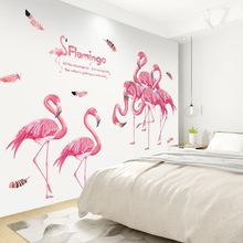 Cute Unicorn Flamingo Wall Sticker Kids Room Girl Boy Bedroom Living Decoration DIY Poster Cartoon Animal Wallpaper