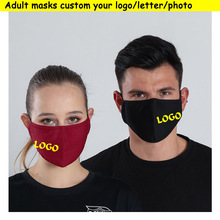 Wholesale cotton masks free Printing LOGO  inside filters Adult masks Men Women protection face wear washable mask Custom LOGO