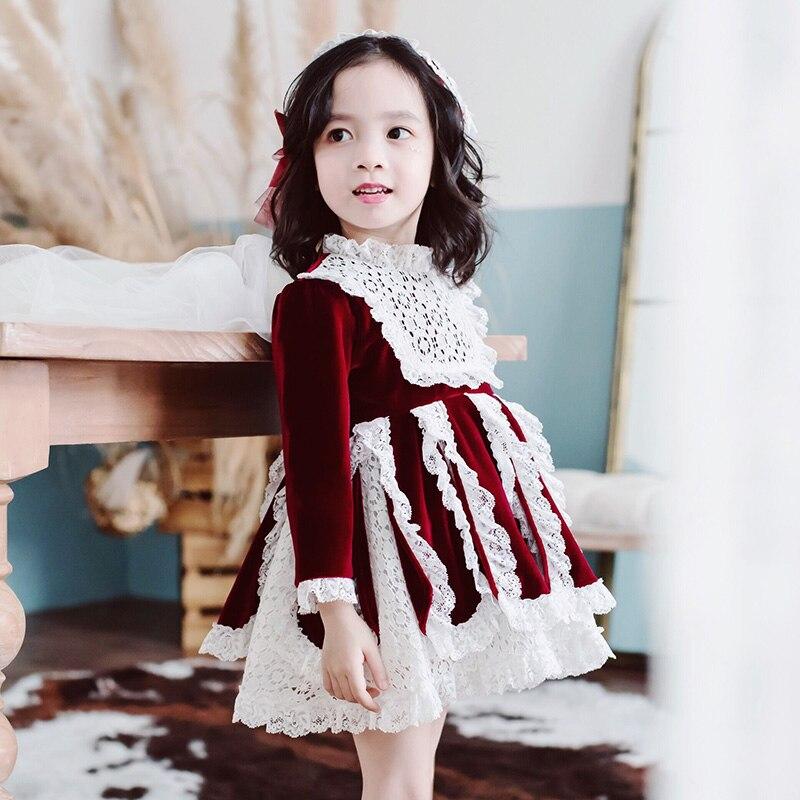 2019 hiver nouvelles filles robe de noël enfant en bas âge fille vêtements d'hiver enfants robe de noël Thanksgiving filles princesse Costume