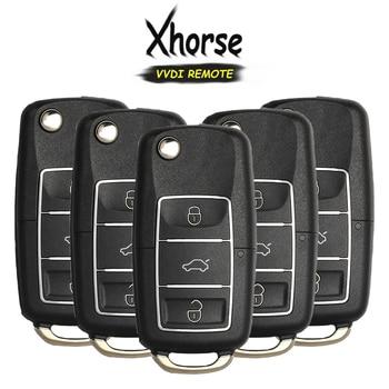 KEYECU 5x (English Version) X007 Series Colorful for V*W B5 Style 3 Button Universal Remote Key for VVDI Key Tool
