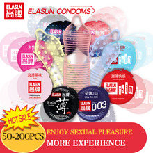 Elasun 200 Pcs Adult Large Oil Condom Smooth Lubricated Condoms for Men Penis Contraception Intimate Erotic Sex Toys Products