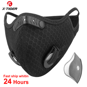 X-TIGER Cycling Face Mask Bicycle Mask Breathable Cycling Mask Anti-Pollution With Activated Carbon Filters