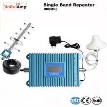 Telefone móvel gsm signal booster gsm repetidor de sinal de telefone celular gsm 900 mhz amplificador de sinal com display lcd yagi conjunto completo