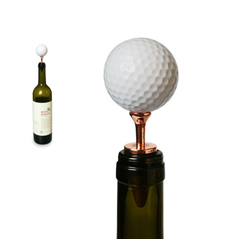 Creative Golf Ball Decorative Wine Bottle Stoppers Top Decoration Ideal Gift