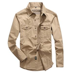 Image 3 - VINRUMIKA 2020 Plus size M 5XL Autumn mens casual brand army green long sleeve shirt man spring 100% pure cotton khaki shirts
