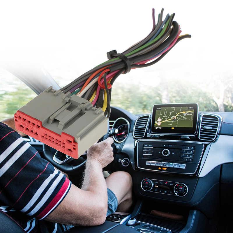 1 Pcs รถสเตอริโอวิทยุ ISO สายไฟอะแดปเตอร์สำหรับ Ford/Hyundai/Lincoln/Honda/BMW ฯลฯ 155x45 มม.2019 ใหม่