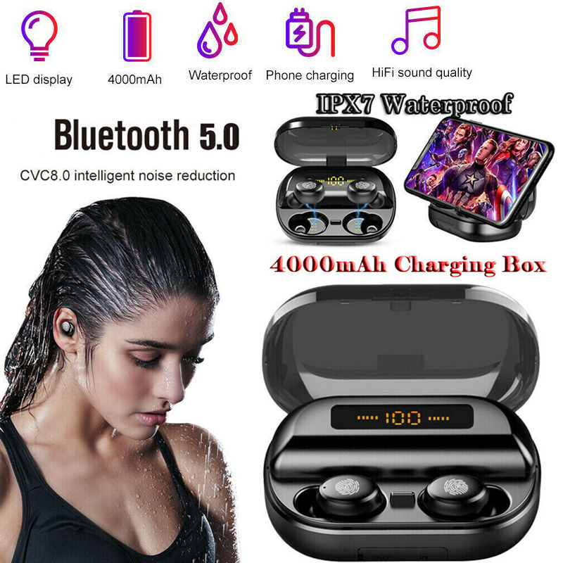 Image 5 - V11 Tws airpots Headphone Wireless Bluetooth 5.0Earphone Mini Earbuds With Mic Charging Box Sport Headset For honor Smart PhoneBluetooth Earphones & Headphones   -