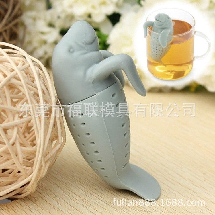 Fred Manatea Creative Manatee Tea Making Device Silicone Tea Maker Sea Lions Silicone Tea Bag Tea Strainer