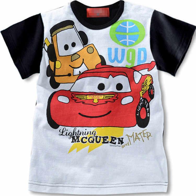 Verano niños coches 95 McQueen camisetas de algodón de manga corta Camiseta de impresión de dibujos animados para niños ropa de niños