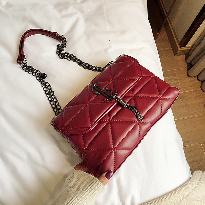 European Fashion Female  Bag 2019 New High Quality PU Leather Women's Designer Handbag Lock Chain Shoulder Messenger bags