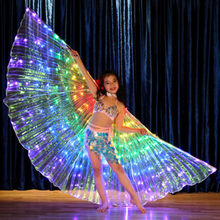 LED Dançarino Infantil Realiza Asas de Borboleta Fluorescente Dança La Ventre Carnaval Leva Traje Show de Natal Asas de Dança