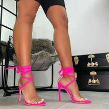 Fashion Womens Shoes 2021 Sandals Straps High Heels Cross Suit Female Beige Large Size Cross-Shoes Luxury Comfort Lace Up High-h