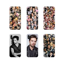 Sebastian Stan Collage Bucky Barnes Voor Apple iPhone X XR XS 11Pro MAX 4S 5S 5C SE 6 S 7 8 Plus ipod touch 5 6 Silicone Skin Case(China)