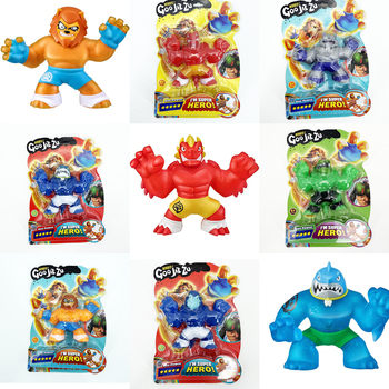 Hot Sale GOO Jit Zu Hero Slow Rising Stress Relief Toys Shark Lion Wolf Toys Slimy Squishy Toy Stress Relief Squeeze Toy newest hot sale squeeze cans flash powder clear slime scented stress relief toy sludge toys interesting toys creative diy toys
