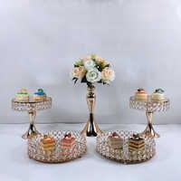 3-8 pièces or miroir Surface mariage Dessert plateau gâteau support de fête de mariage décoration d'anniversaire Pan gâteau biscuits affichage