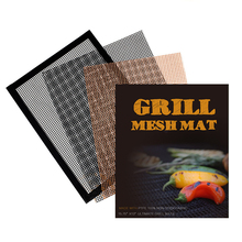 BBQ Glass Fiber Non-stick Grill Mesh Mat Environmentally Friendly and Reusable Grill Net Pad 1 pc fangcan tpe single layer standard yoga mat skin friendly non toxic and environmentally friendly
