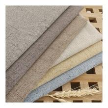 リネン固体生地による計生地家具/テーブルクロス縫製needlewoorkパッチワークdiyの材料