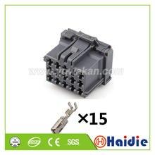 O envio gratuito de 2 conjuntos 15pin auto unsealed plug conector elétrico automotivo