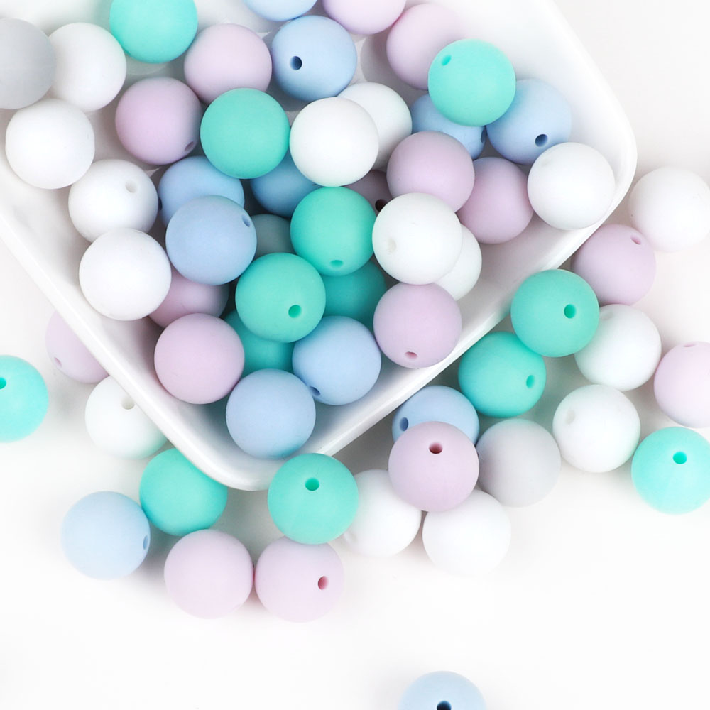 TYRY.HU 200pcs Silicone Beads Baby Teething Beads Necklace Food Grade Mom Nursing DIY Jewelry Baby Teethers Baby Products