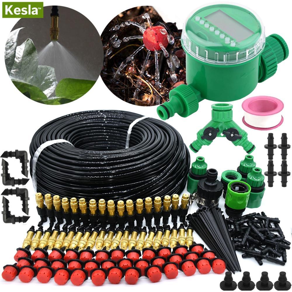Kesla 5 M-50 M Automatische Tuin Besproeiing Kits Timer Controller Diy Tuin Micro Drip Irrigatie Mist Spray koelsysteem