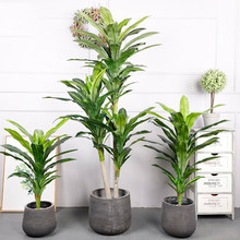 Tropical Palm Large Artificial Branch Plastic Fake Leaf Green Brazilian Iron Tree Home Garden Room Office Decoration
