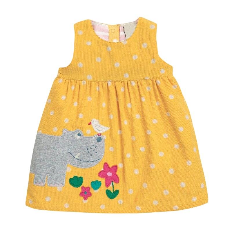 Little maven Dress Girls Sleeveless Dress Animal Giraffe Applique Baby Girls Corduroy Sundresses Kids Clothes Brand Dress 5