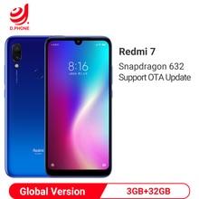 هاتف ذكي نسخة عالمية من شاومي Redmi 7 بذاكرة وصول عشوائي 3 جيجابايت وذاكرة قراءة فقط 32 جيجابايت ومعالج سنابدراجون 632 ثماني النواة وشاشة كاملة 6.26 بوصة وبطارية 4000 مللي أمبير في الساعة