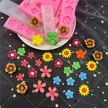 Many Kinds Sun Flower Daisy Moulds For Chocolate Fondant Cake Decorating Tools Kitchen Baking Silicone Mold DIY Resin Art Form