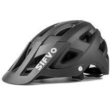 Exclusky 2021 New Style Adults Off Road MTB Mountain Bicycle Helmet With Sun Visor Downhill Helmets Caps