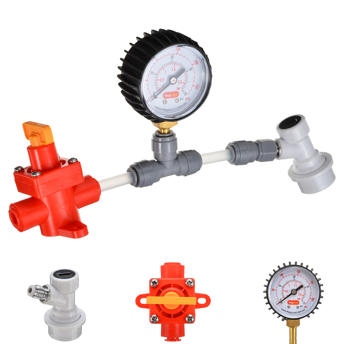 Blowtie Diaphragm Spunding Valve Set Adjustable Pressure Relief Value Gauge Ball For Food Beer Wine Brewing Equipment Tools