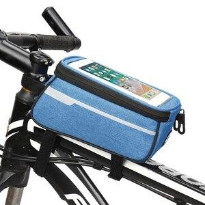 6-дюймовый мобильный телефон сумка кобура Водонепроницаемая велосипедная сумка нейлоновая передняя трубка сумка держатель аксессуары для ...
