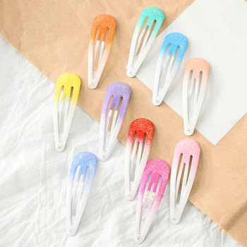 Horquillas de Color degradado con brillo para niñas y bebés, horquillas para niños, horquillas, horquillas, accesorios para niños, Clips BB para bebés
