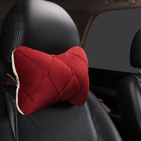 Vehicle Headrest Neck Pillow Automotive Soft Warm Car Seat Head Rest Plush Cushion Car Interior Accessories Winter