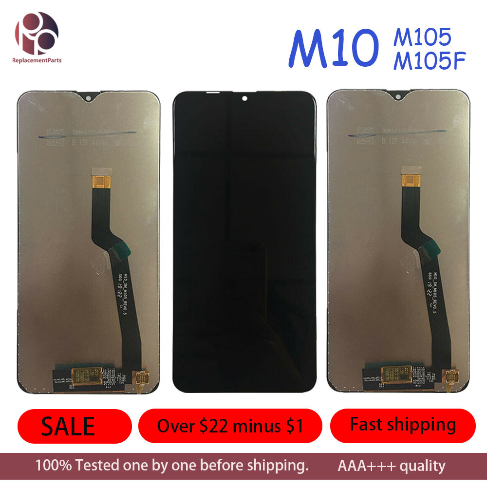 10Pcs <font><b>LCD</b></font> Display for <font><b>Samsung</b></font> M105F SM-M105F <font><b>M10</b></font> Touch <font><b>Screen</b></font> Digitizer Assembly <font><b>Screen</b></font> Display Repair Parts image
