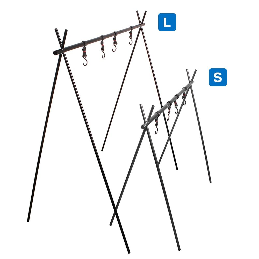 Panelas ao ar livre pendurado rack triangular