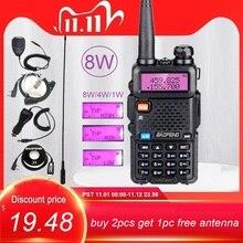 Baofeng UV 5R 8W Walkie Talkie 2 Way Ham Radio Stations VHF UHF Portable Transceiver Radio Amateur UV5R UV 5R for Hunting 10KM