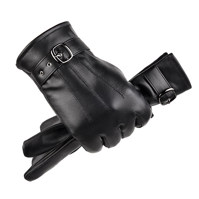 Men And Women Genuine Sheepskin Leather Gloves Windproof Thermal Warm Touchscreen Glove Winter Warm Mittens