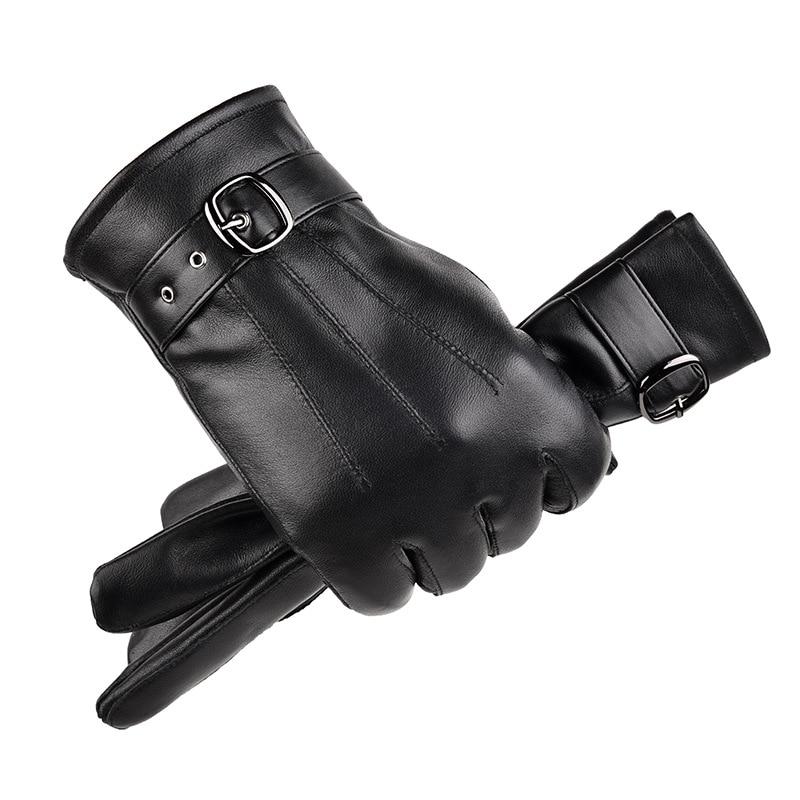 Men And Women Genuine Sheepskin Leather Gloves Windproof Thermal Warm Touchscreen Glove Winter Warm Mittens