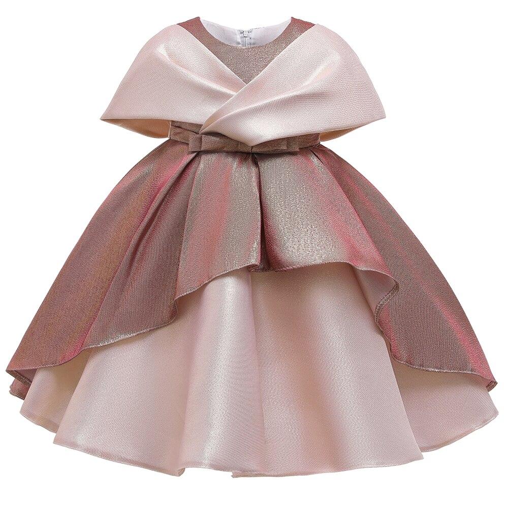 2 Ways Wear Girl Elegant Princess Dress Flower Girl Party Dress For Birthday Kids Girl Ball Gown Wedding Dress 3