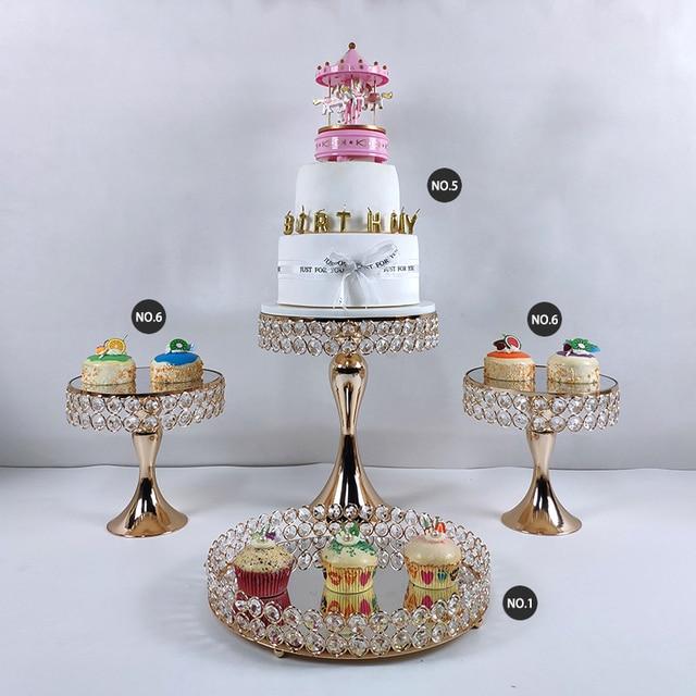 9 soportes para tartas de cristal para fiestas y bodas