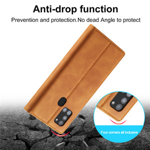 Image 5 - Luxury Case For Samsung Galaxy A21S Case Leather Flip Wallet Magnetic Card Bags Case Samsung Galaxy A21S Phone Cover Stand