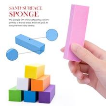 10 шт губки для ногтей для УФ-геля Белый пилочка для ногтей буферный блок маникюрный лак шлифовальный буфер для ногтей цветной буферный блок