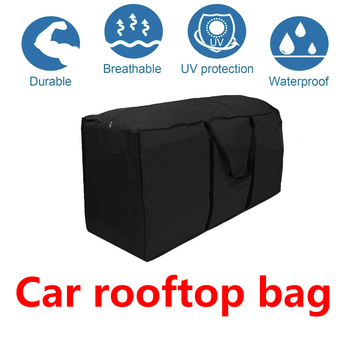 120*40*50cm Car Roof Top Bag Roof Top Bag Rack Cargo Carrier Luggage Storage Bag Rack Travel 420D Waterproof SUV Van for Cars image