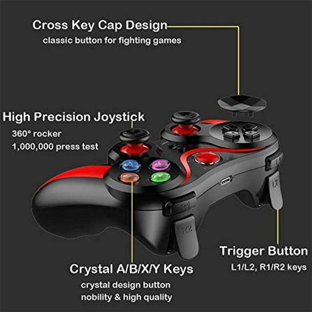 Pro Ios & Android Wireless Bluetooth Gamepad Mobile Games Controller For Pubg For IPhone HUAWEI XIAOMI Android 4